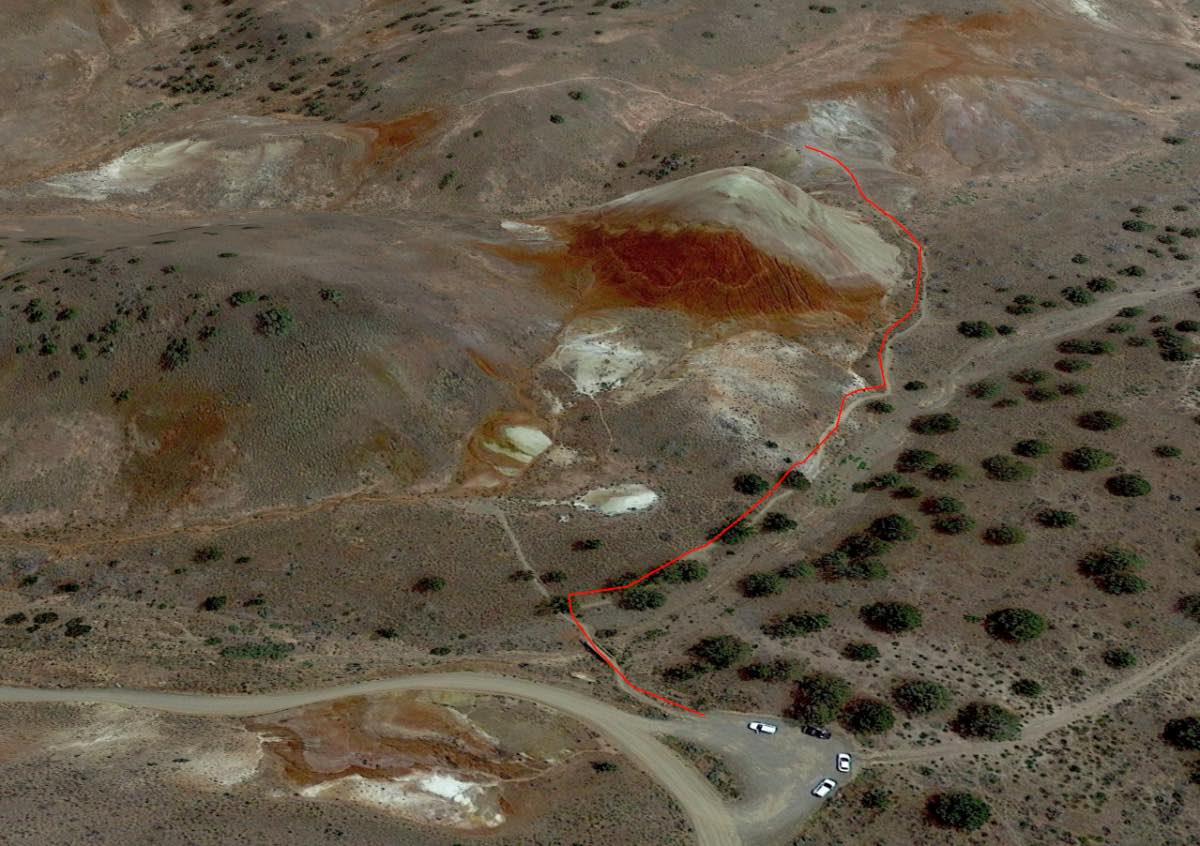 Painted Hills - Red Scar Knoll Overview Thumbnail