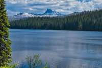 Three Fingered Jack from across Marion Lake